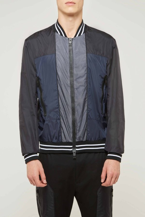 Panneled Nylon Bomber
